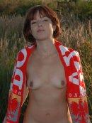 Polska dziewczyna na łonie natury